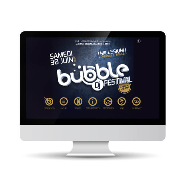 Site Bubble Dj Festival (One page)