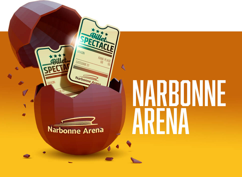 bouton pour narbonne arena